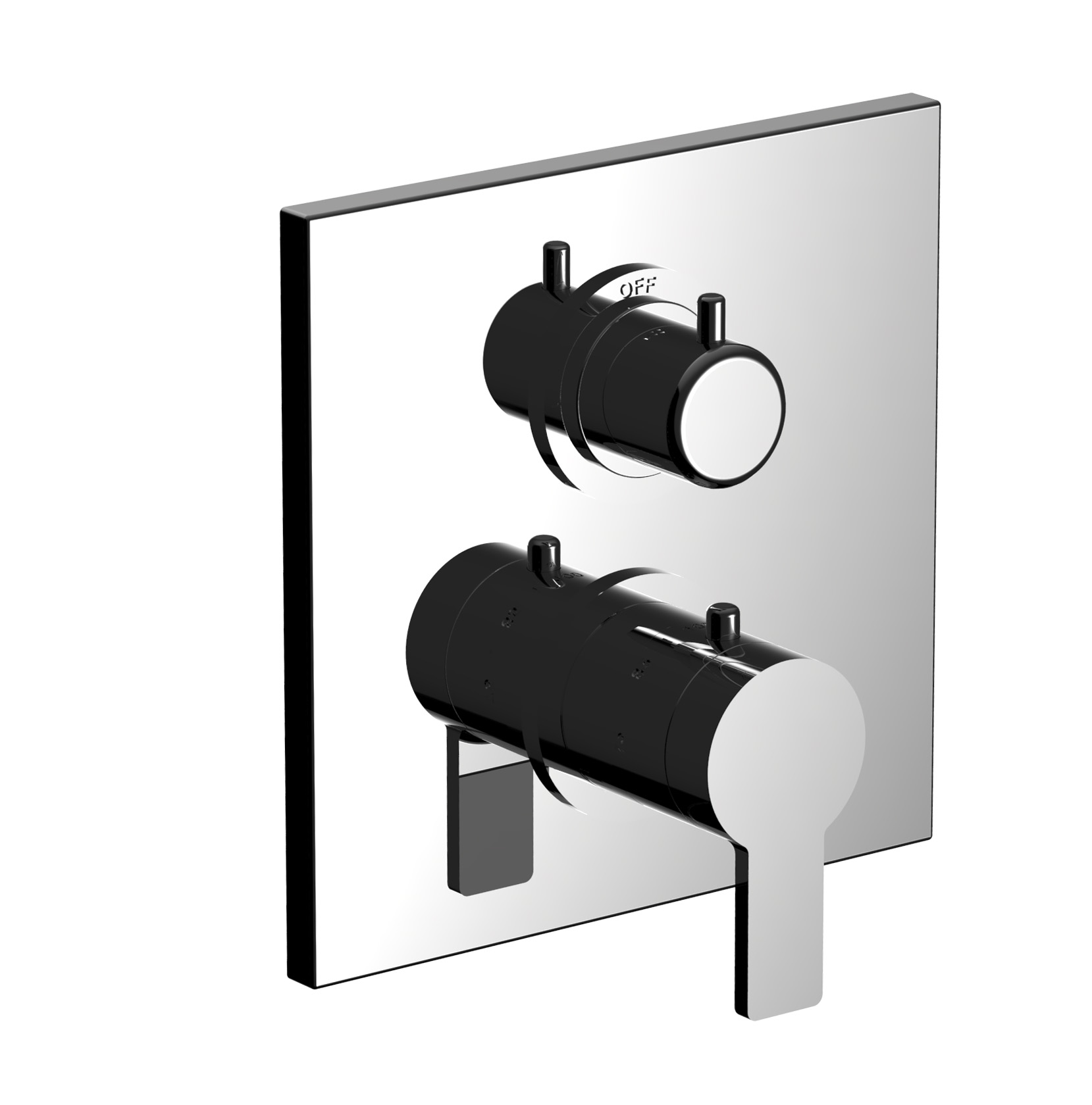 """7097MD-TM - 1/2"""" Thermostatic trim with volume control and 2-way ..."""