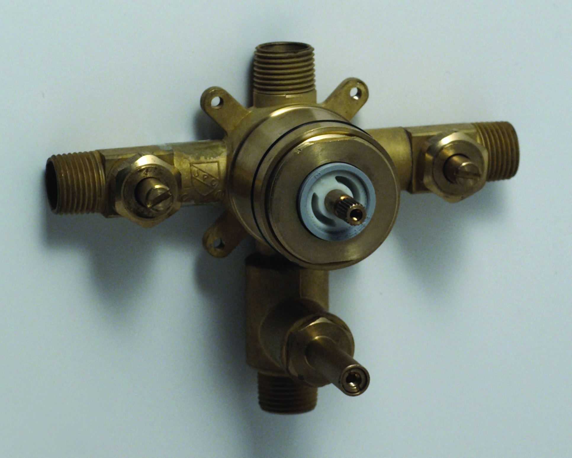 Valve only for pressure balanced shower with integral diverter and ...